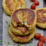 fried cauliflower patties recipe with tomatoes