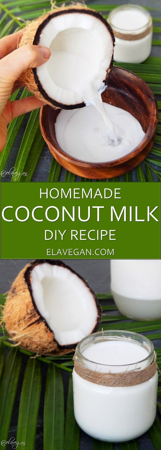 homemade coconut milk recipe pinterest