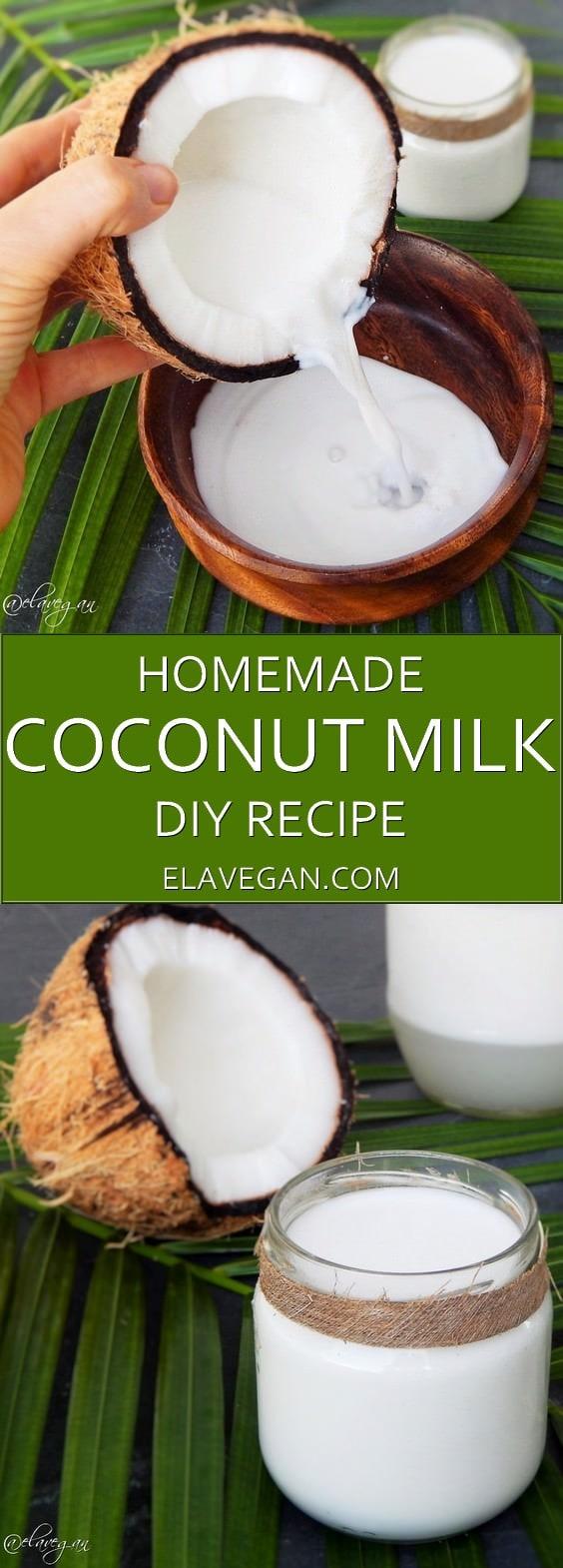 homemade coconut milk recipe pinterest