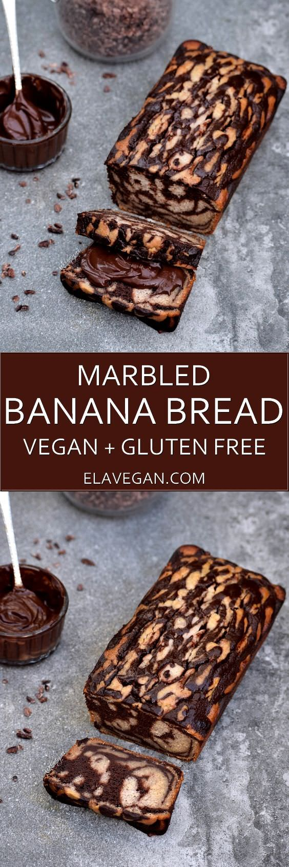 Marbled banana bread Pinterest