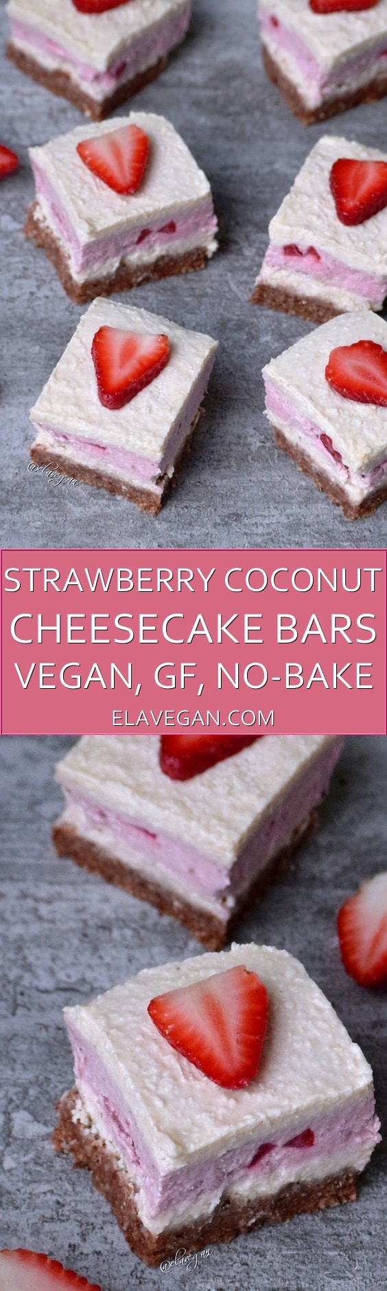 Strawberry coconut cheesecake bars pinterest