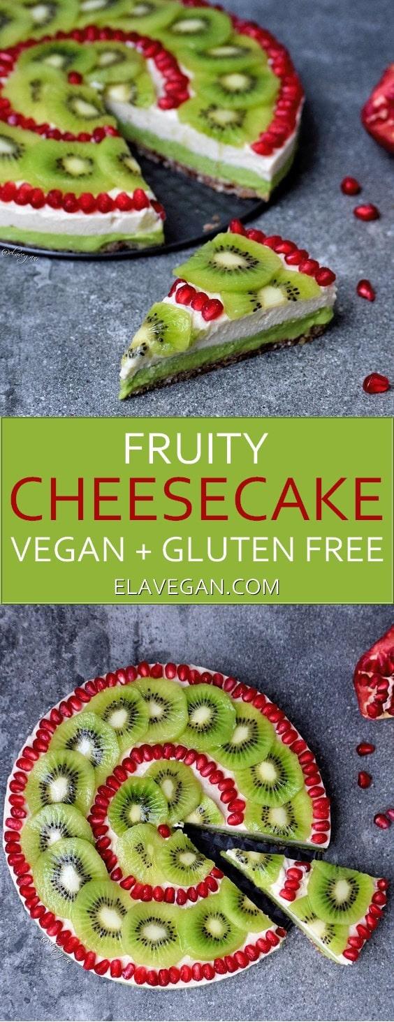 fruity cheesecake vegan pinterest