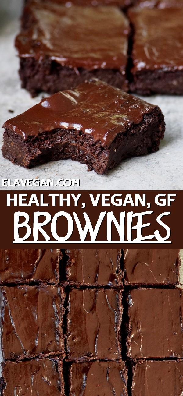 Pinterest collage healthy vegan brownies