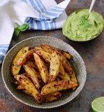 oven baked potato wedges recipe paleo and low-fat