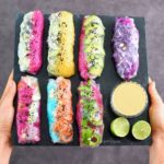 vegan summer rolls also called rainbow rolls with vegetables and rice noodles - gluten free recipe