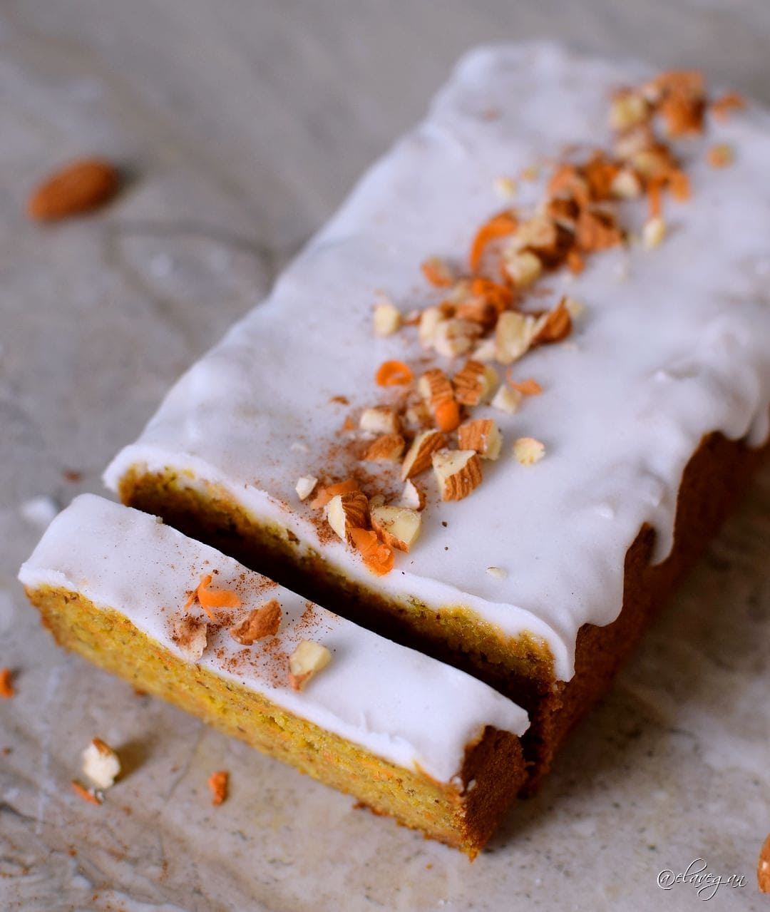 Vegan gluten free carrot cake which is a low-fat recipe with a refined sugar-free frosting. This low calorie vegan carrot cake is healthy, egg-free, dairy-free and easy to make