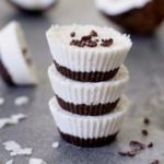 Raw coconut cupcakes, a vegan and gluten free recipe similar to bounty bars