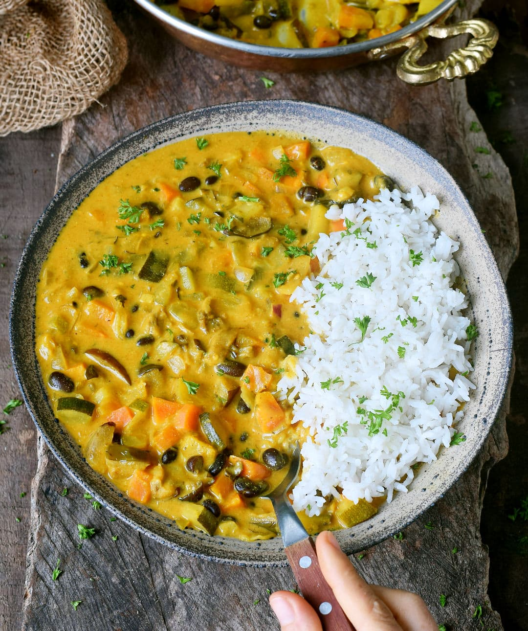 vegan curry recipe with coconut milk and pineapple