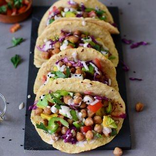 Vegan chickpea tacos | gluten-free healthy recipe