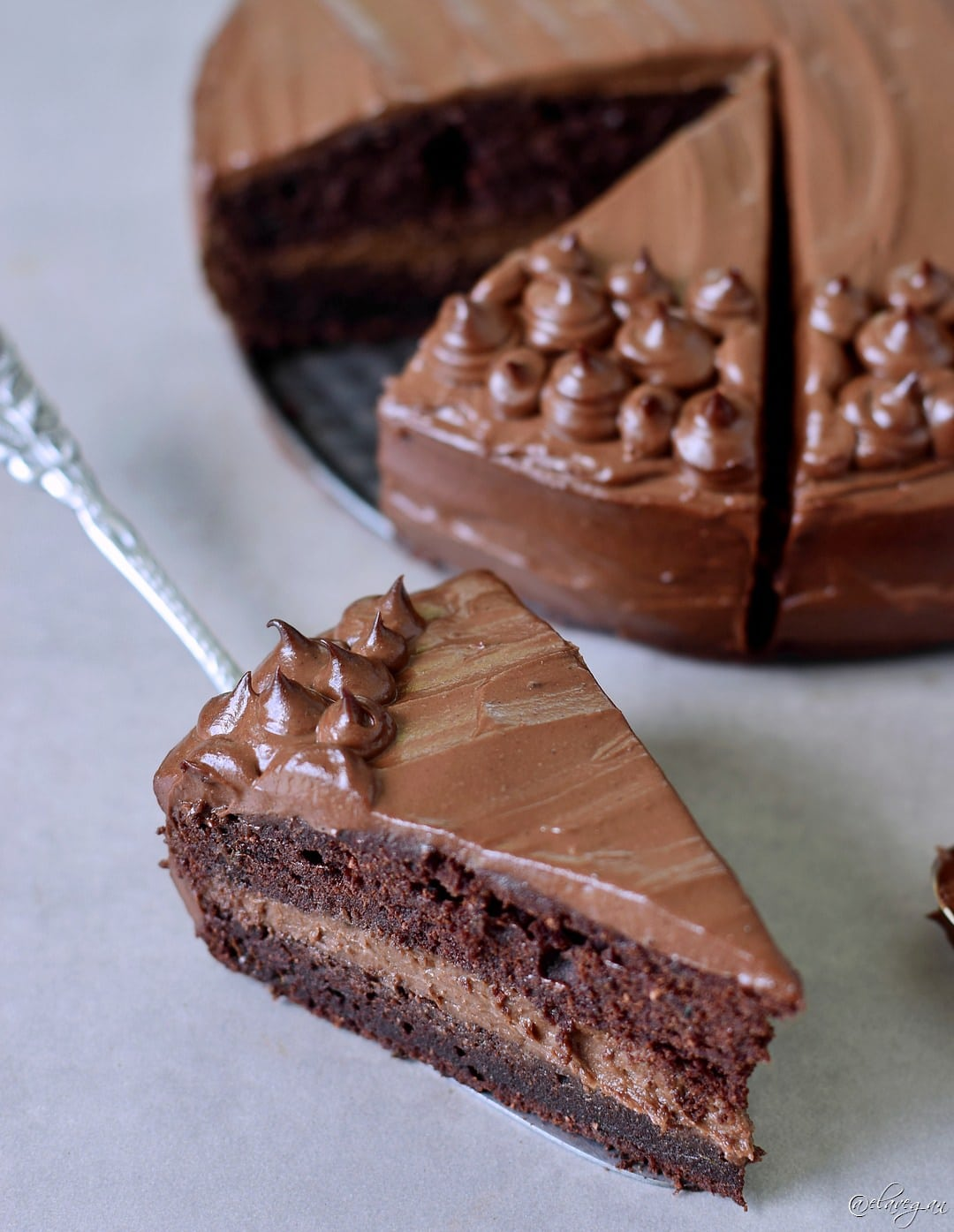 Rice Flour Vegan Chocolate Cake