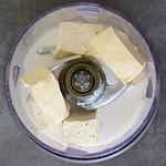 tofu and milk in food processor