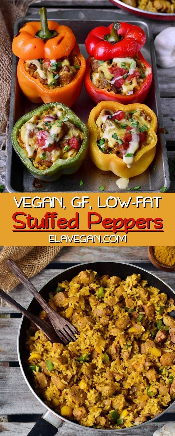 vegan stuffed bell peppers gluten-free low-fat recipe