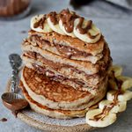 vegan gluten-free chocolate stuffed pancakes homemade