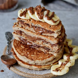 vegan gluten-free chocolate stuffed pancakes recipe homemade