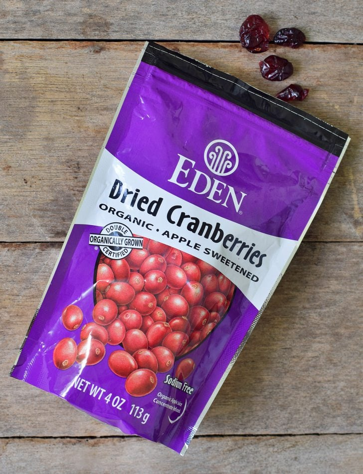 Eden dried cranberries in a bag