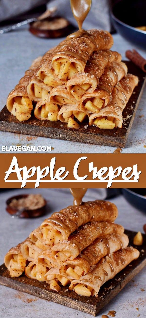 Pinterest collage apple cinnamon crepes