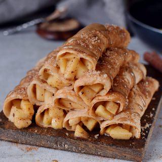 healthy apple cinnamon crepes vegan recipe