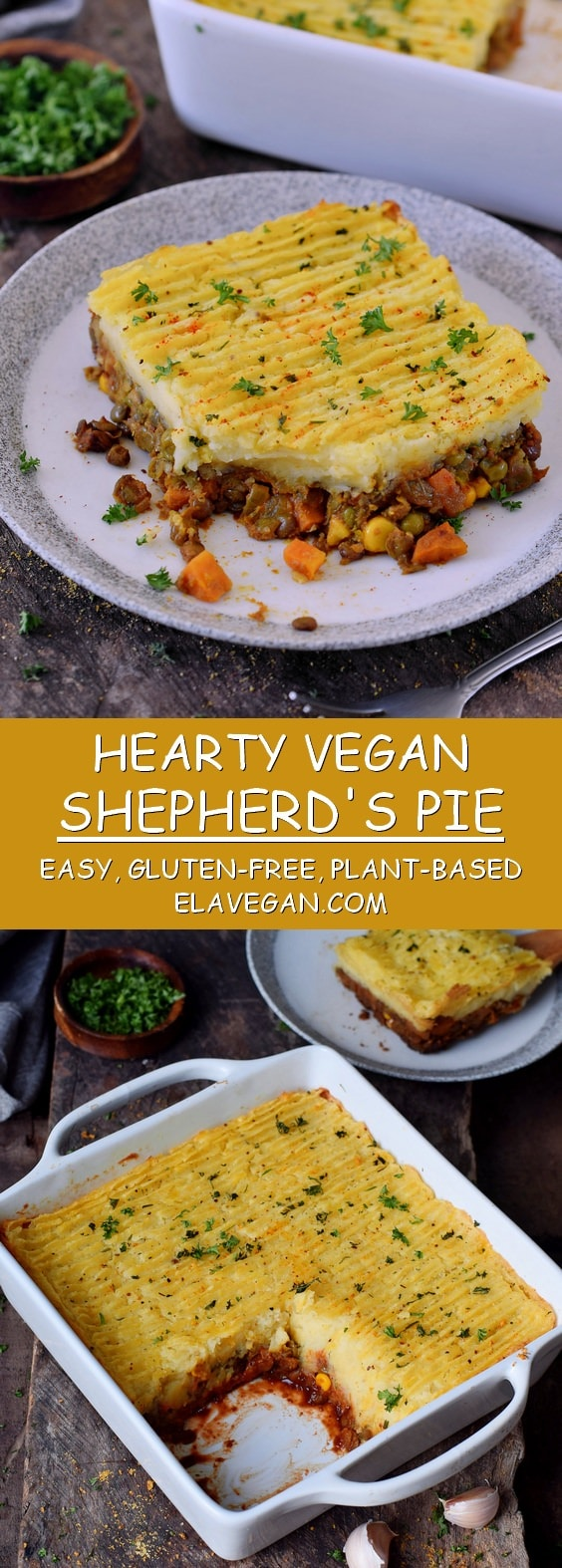 vegan shepherds pie with lentils mashed potatoes gluten-free recipe
