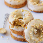 vegan carrot cake donuts with gingerbread flavor and frosting gluten-free