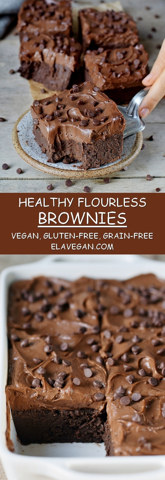 healthy flourless brownies vegan gluten-free grain-free recipe pinterest