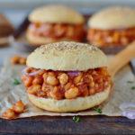 healthy vegan sloppy joes recipe with gluten-free burger buns