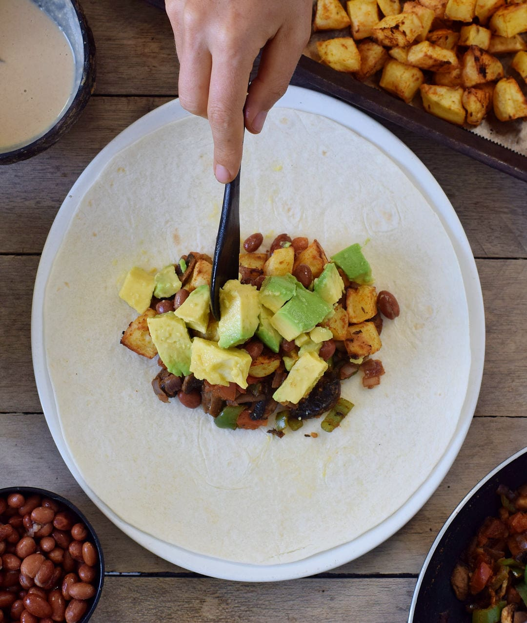 how to make vegan breakfast burritos