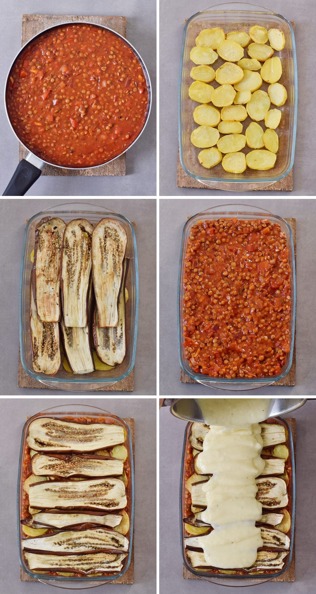 how to make vegan moussaka step by step pictures
