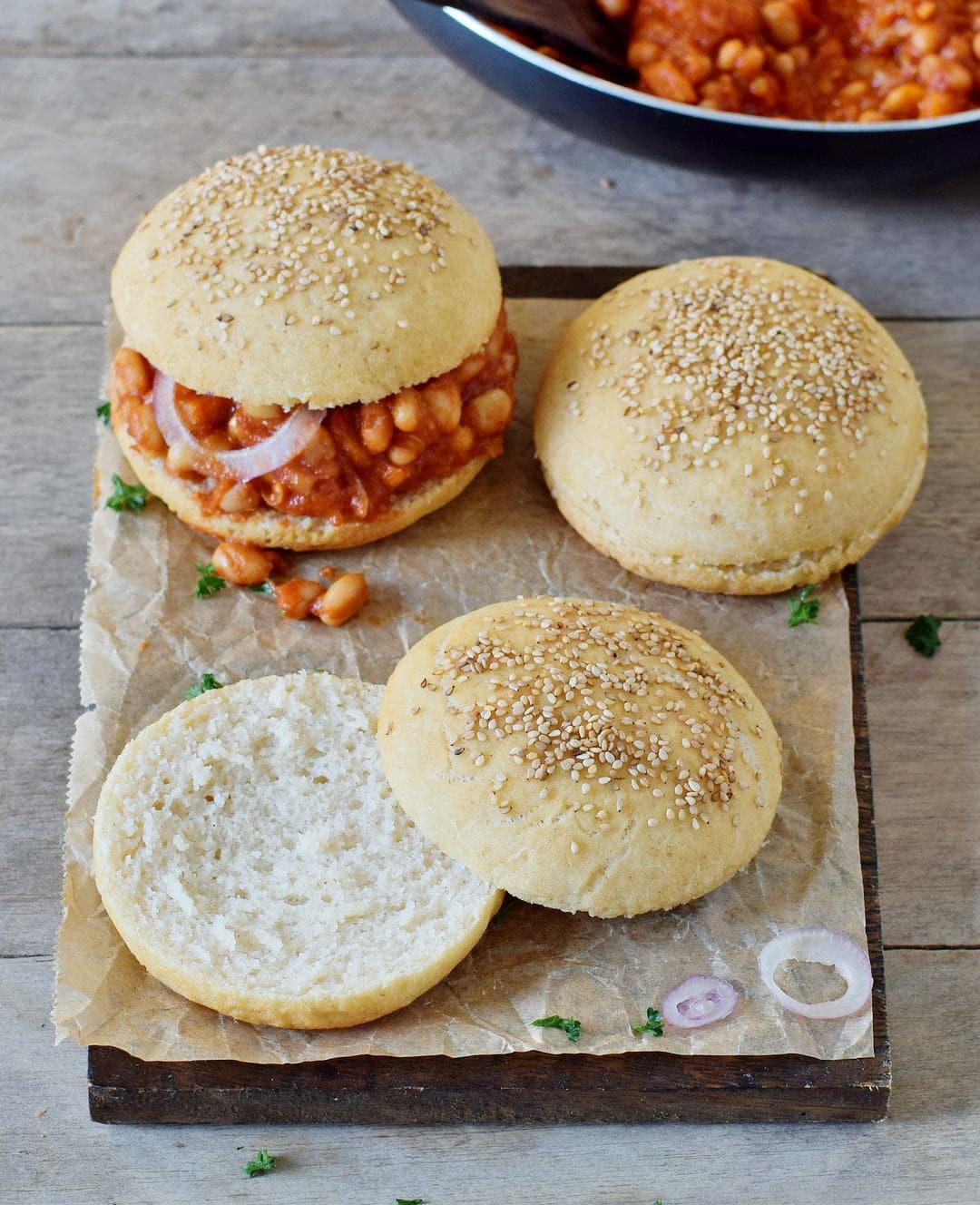 soft gluten-free healthy burger buns to make vegan sloppy joes