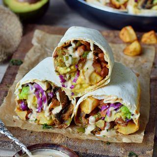 vegan breakfast burritos with a gluten-free cashew dip 320x320