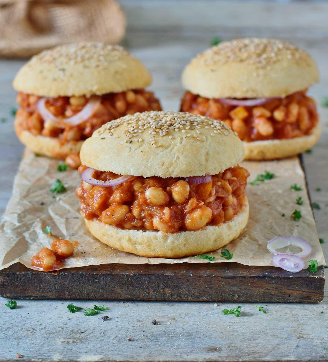 vegan sloppy joes recipe with gluten-free soft burger buns