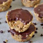 healthy vegan gluten-free breakfast granola cups without peanut butter