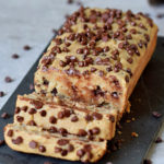 healthy gluten-free vegan chocolate chip banana bread