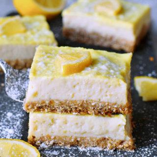 healthy vegan lemon bars recipe gluten-free