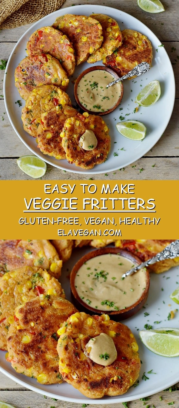veggie fritters gluten-free vegan healthy easy recipe