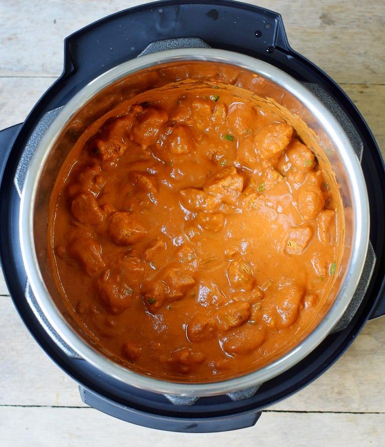 Veganes Tikka Masala (Hühnchen) aus dem Schnellkochtopf