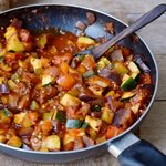 Quick and easy RATATOUILLE recipe with healthy vegetables vegan low-carb