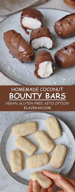 homemade coconut chocolate bounty bars vegan keto gluten-free recipe pinterest