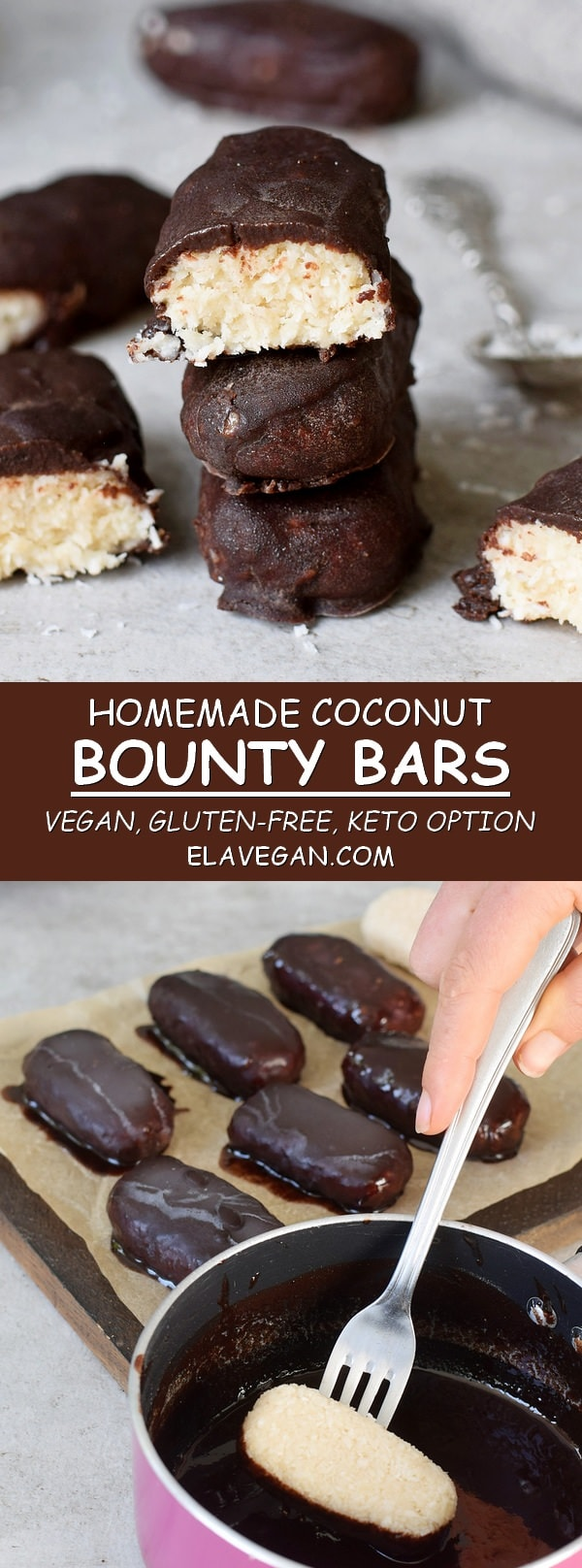 homemade coconut chocolate bounty bars vegan keto gluten-free recipe