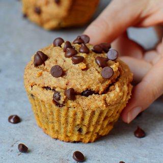 vegan chocolate chip sweet potato muffins gluten-free recipe