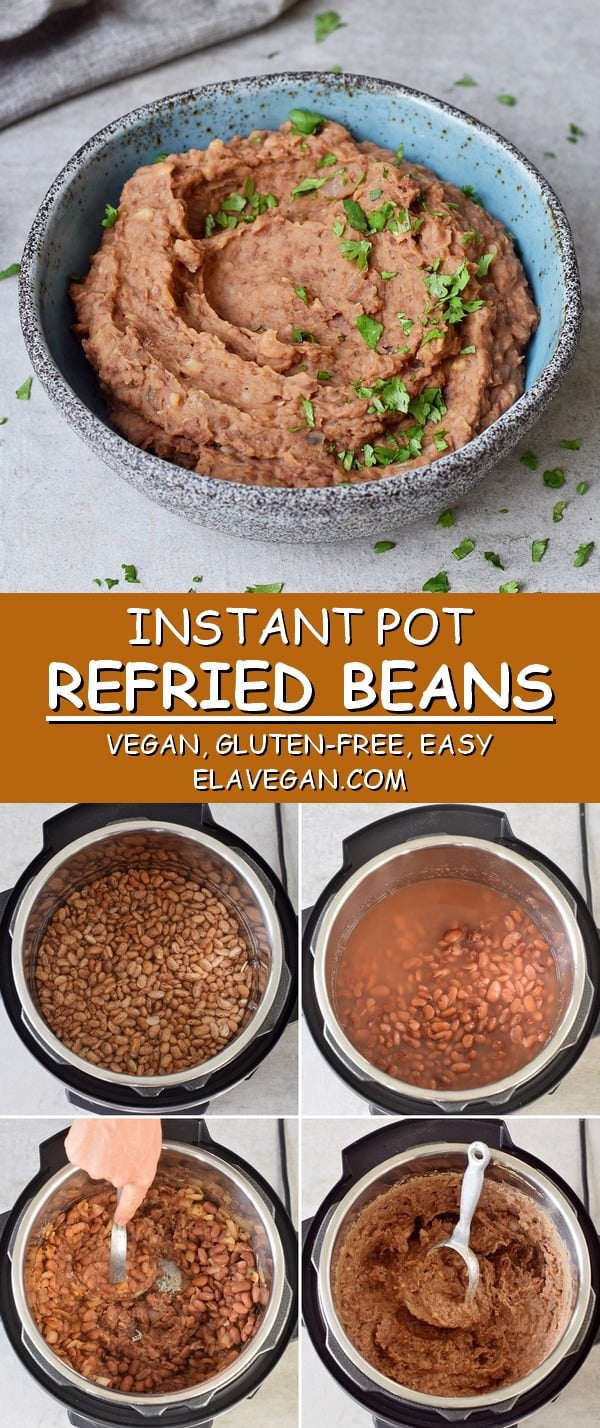 Instant Pot refried beans vegan gluten-free easy step by step instructions