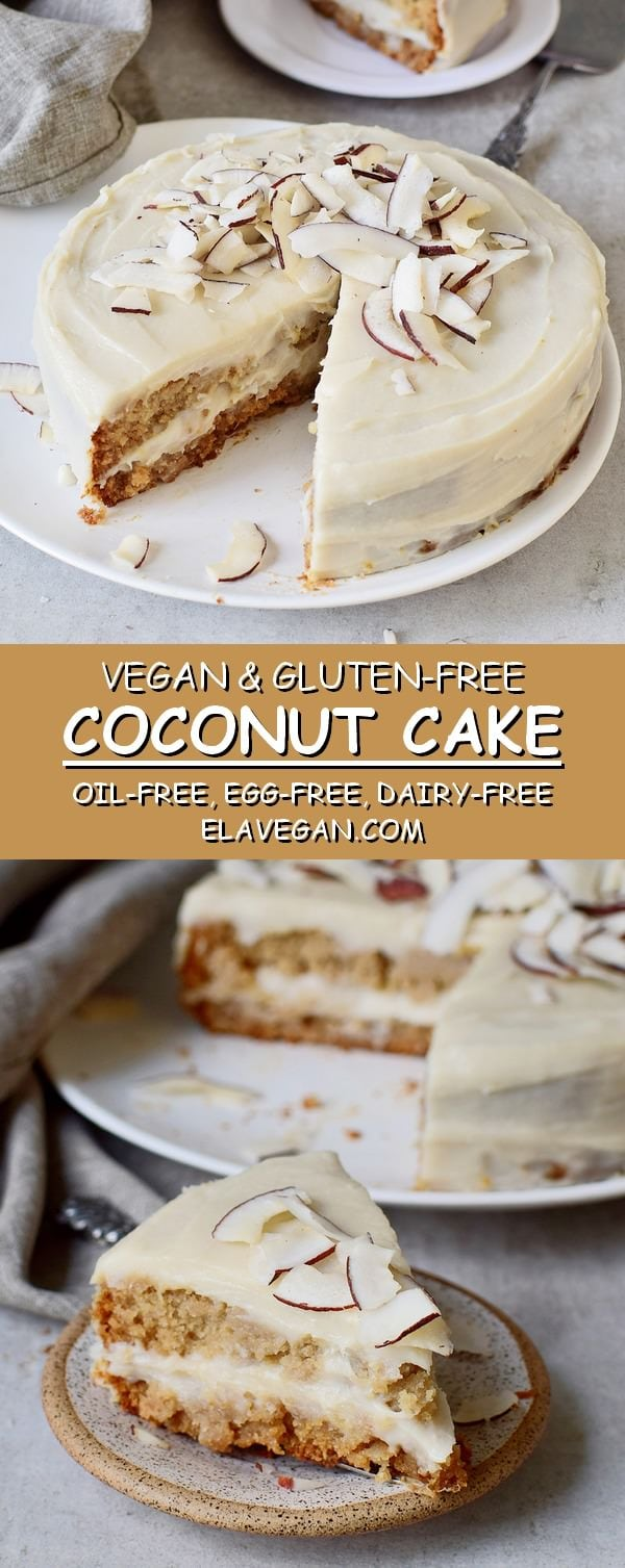 Vegan Coconut Cake oil free gluten-free recipe
