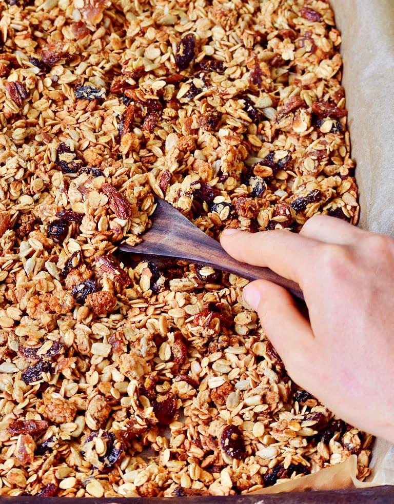baked homemade nut-free granola