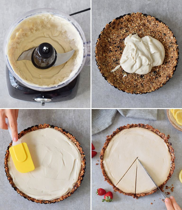 how to make a vegan cheesecake tart
