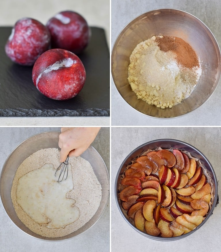 how to make a plum upside down cake step 1