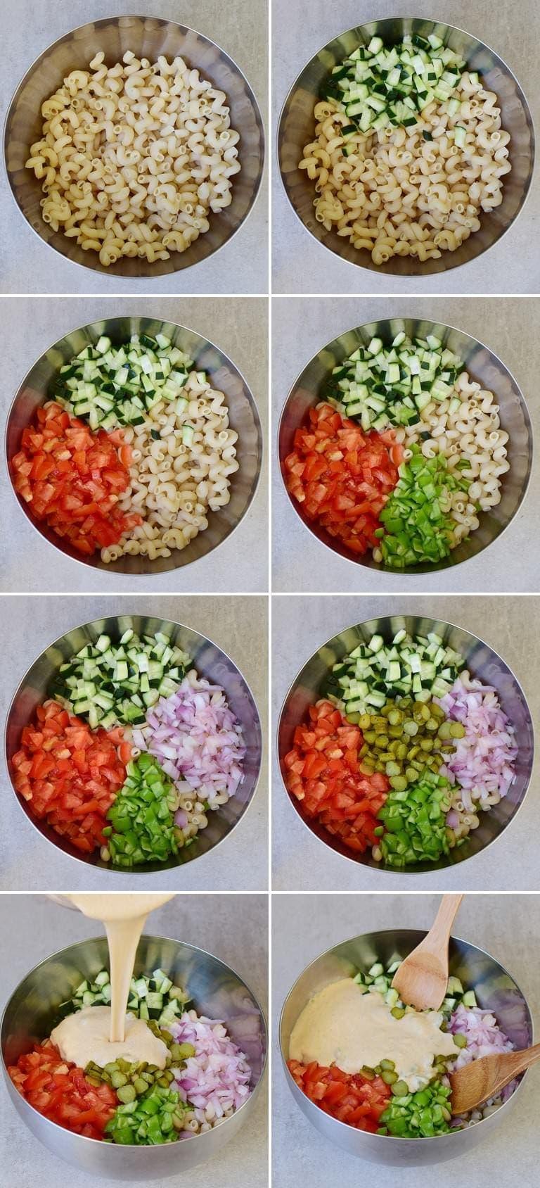Wie macht man einen veganen Nudelsalat