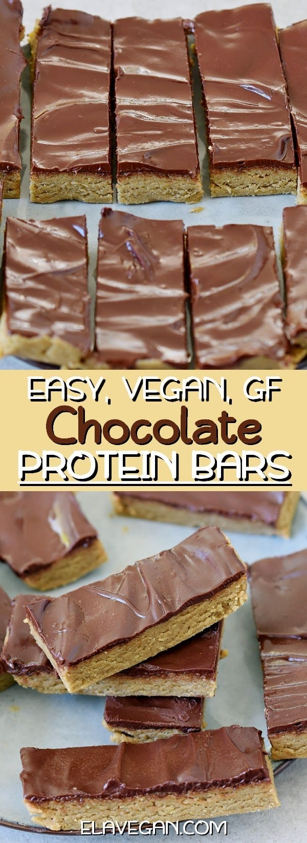 easy vegan gluten-free protein chocolate bars