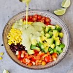 Easy Mexican Avocado Salad with oil-free dressing
