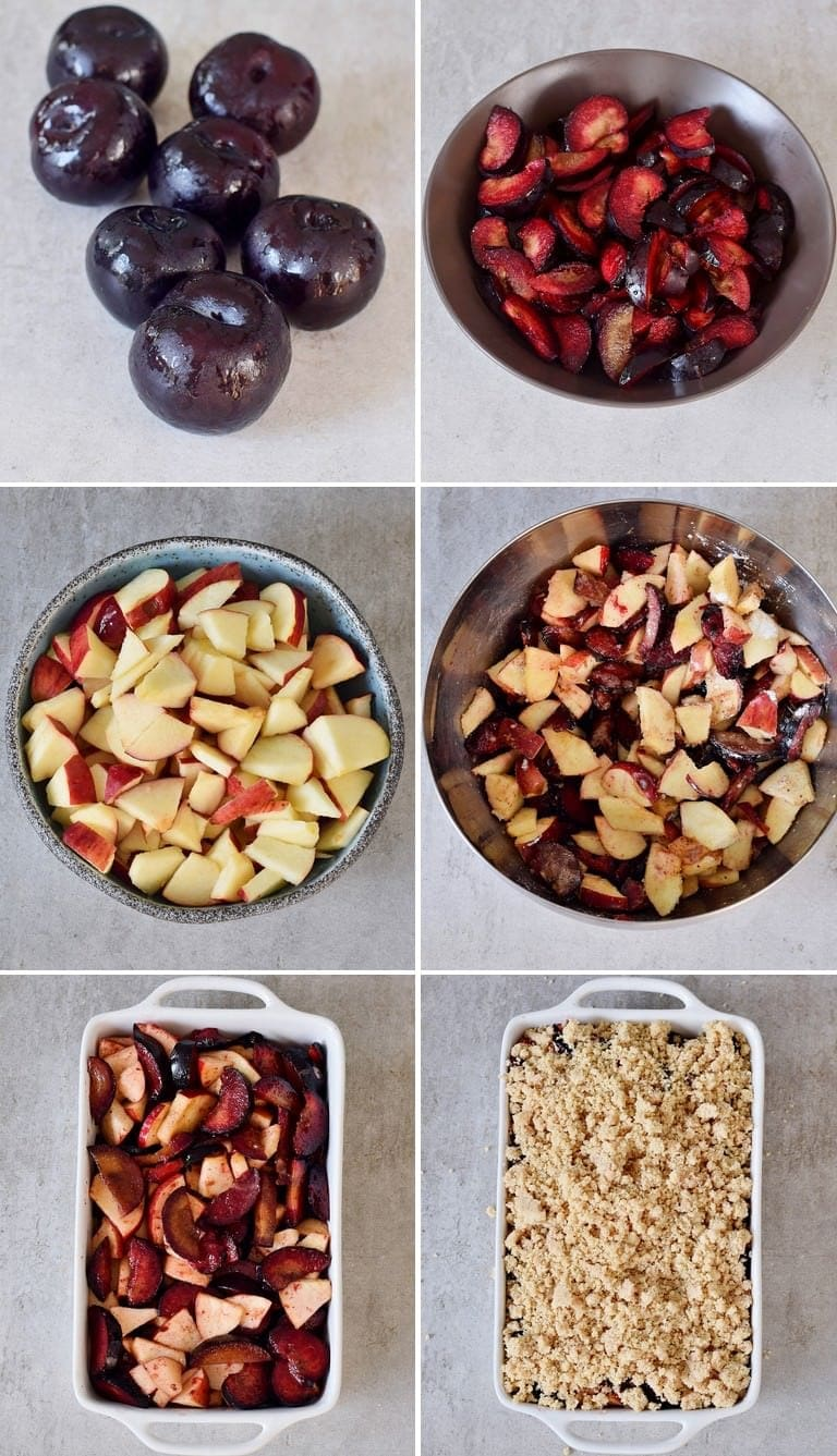 How to make plum and apple crumble