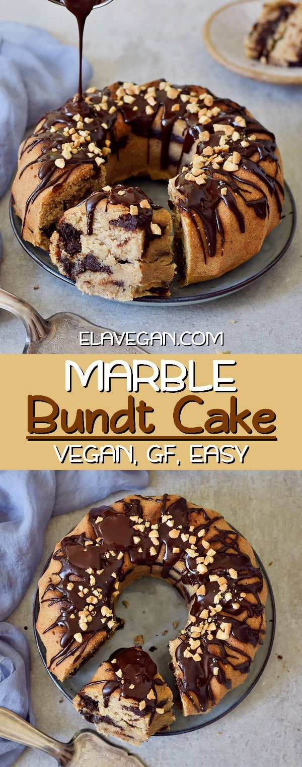 Marble Bundt Cake vegan gluten-free easy recipe