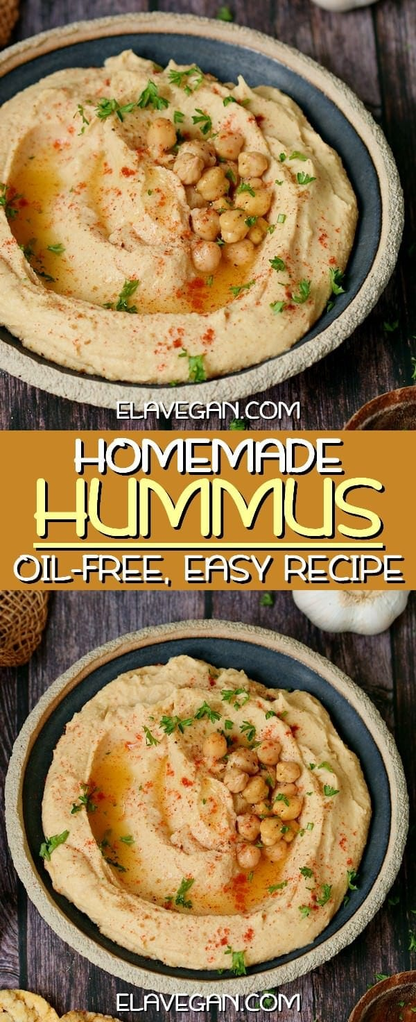 Homemade oil-free hummus recipe